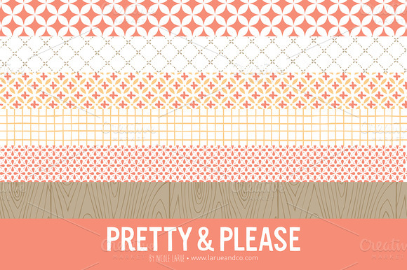 Pretty   Please Patterns  Clipart    Patterns On Creative Market