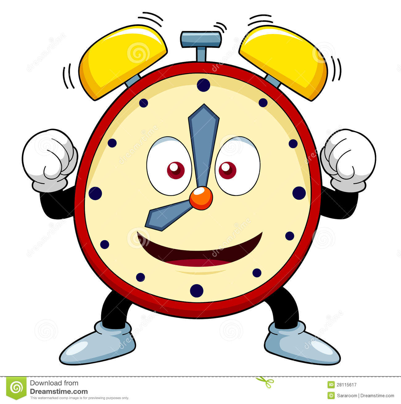 Image result for cartoon alarm clock