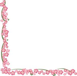 Simple Flower Corner Clipart - Clipart Kid Flower Vine Clipart