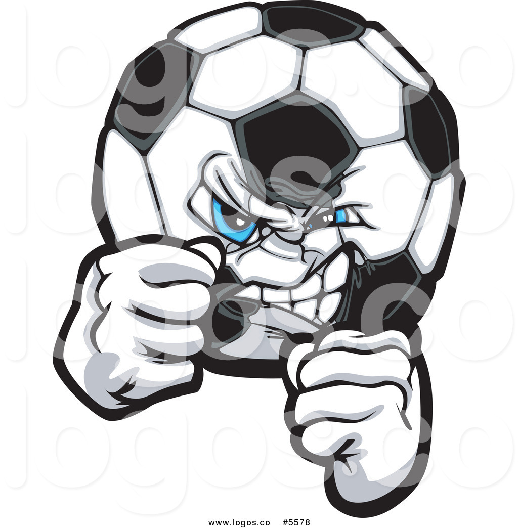 Soccer Ball With Fists Logo Of Eagle Talons Ripping A Soccer Ball Logo