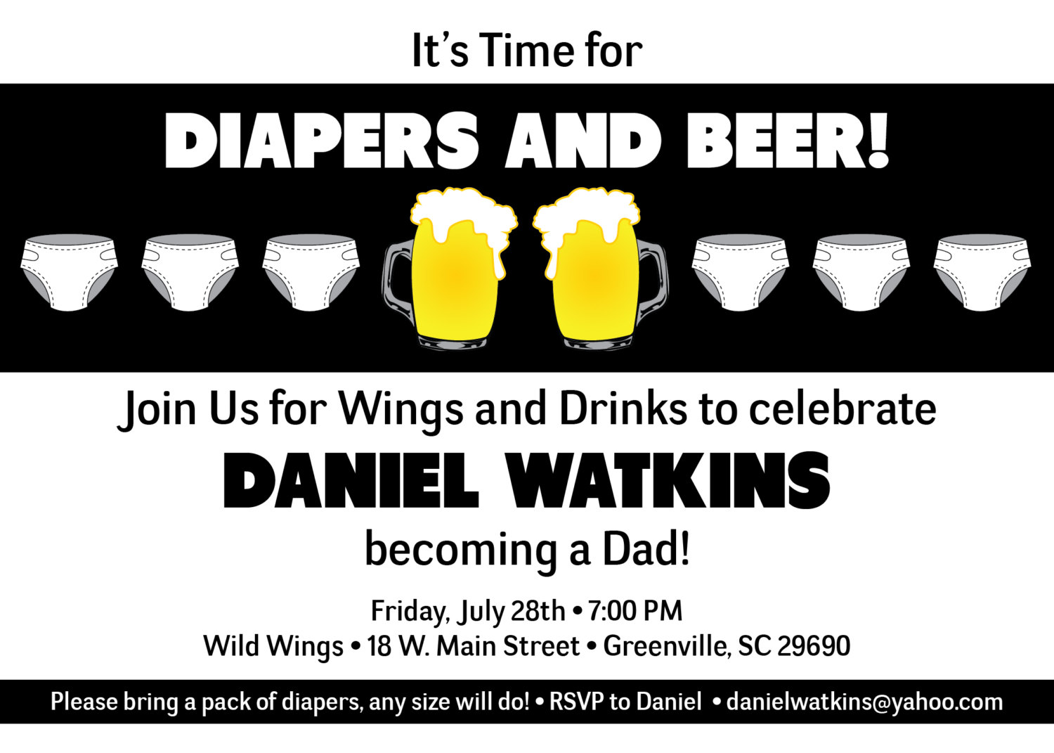 Diaper And Beer Party Invitations for luxury invitation layout