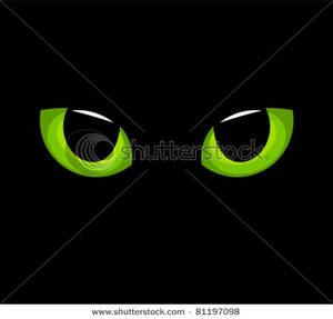 Clip Art Image  The Green Eyes Of A Black Cat