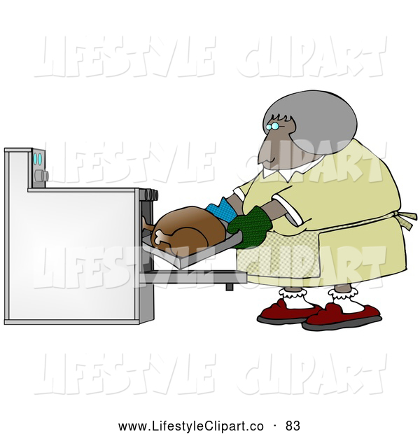 Clip Art Of A Friendly Middleaged African American Woman Wearing Mis