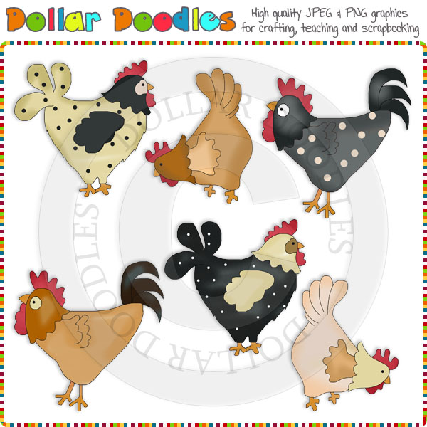 Country Cluckers Clip Art Download     1 00   Dollar Doodles