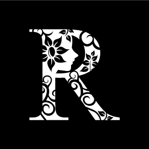 Flower Clipart   White Alphabet R With Black Background   Download