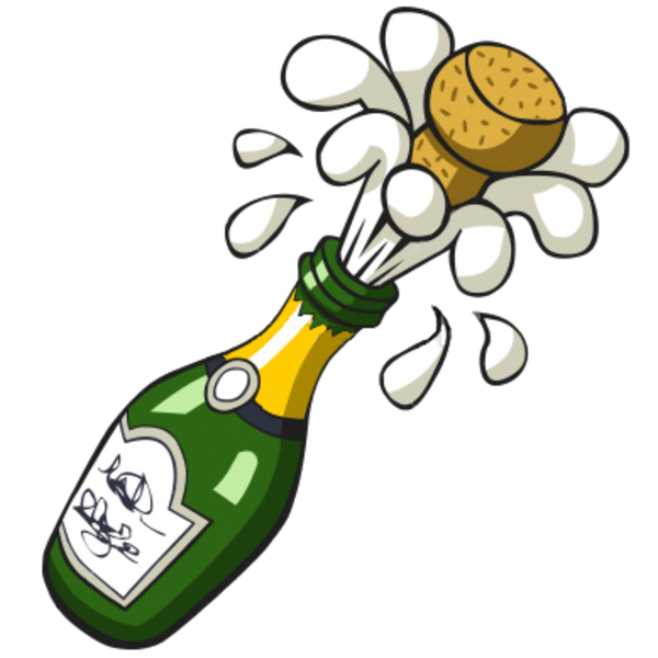 Free Popping Champagne Bottle Clip Art