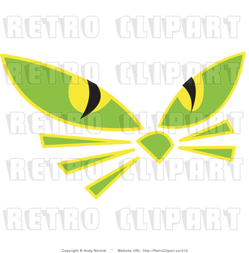 Free  Rf  Vector Retro Clipart Illustration Of Cat Eyes  This Cat
