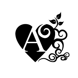 Heart Clipart   Black Alphabet A With White Background   Download Free