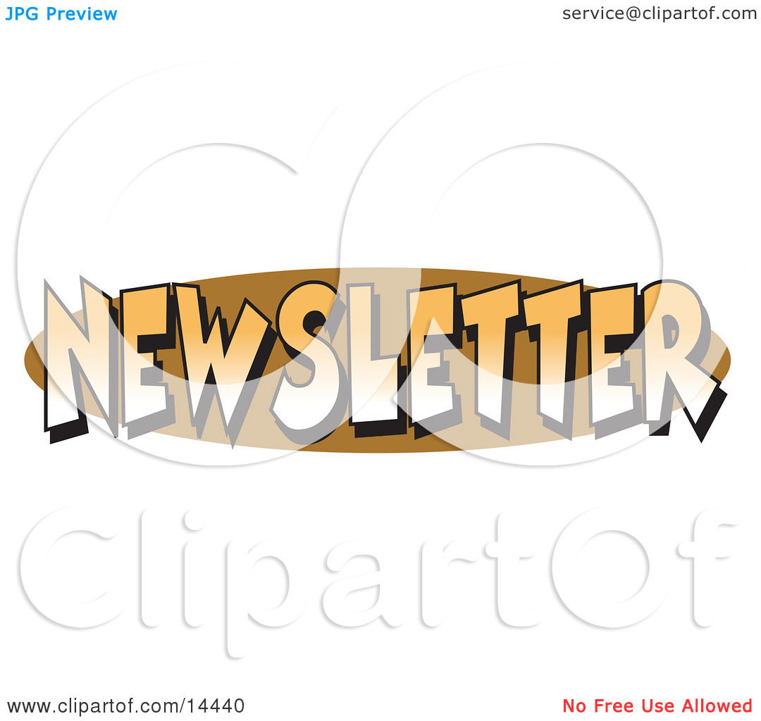 Internet Web Button Reading Newsletter Clipart Illustration By Andy