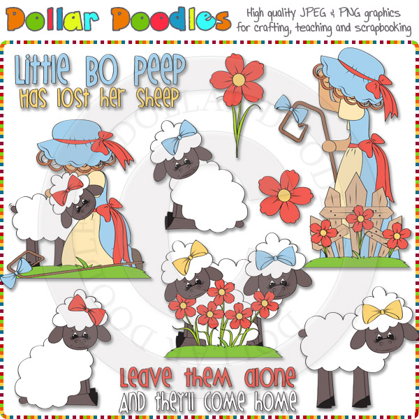 Little Bo Peep Clip Art Download     1 00   Dollar Doodles