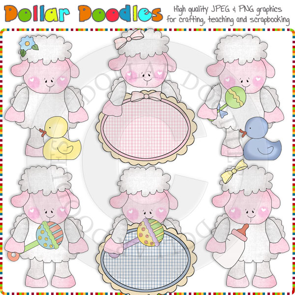 Little Lamb Baby Clip Art Download     1 00   Dollar Doodles