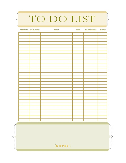 Office To Do List Template   Dark Brown Hairs