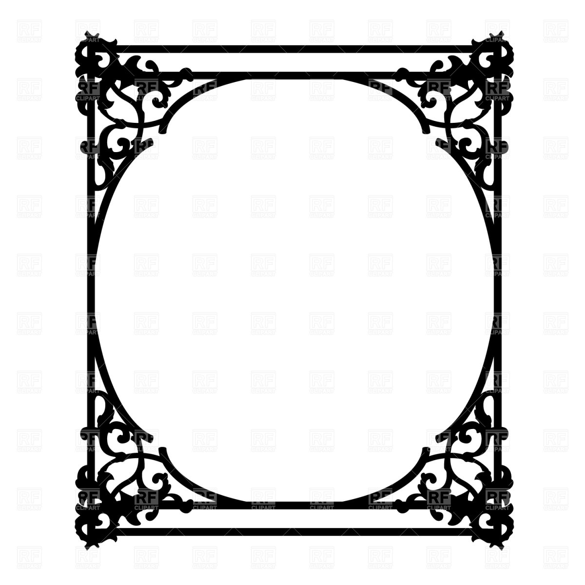 Ornate Picture Frame Clipart - Clipart Kid