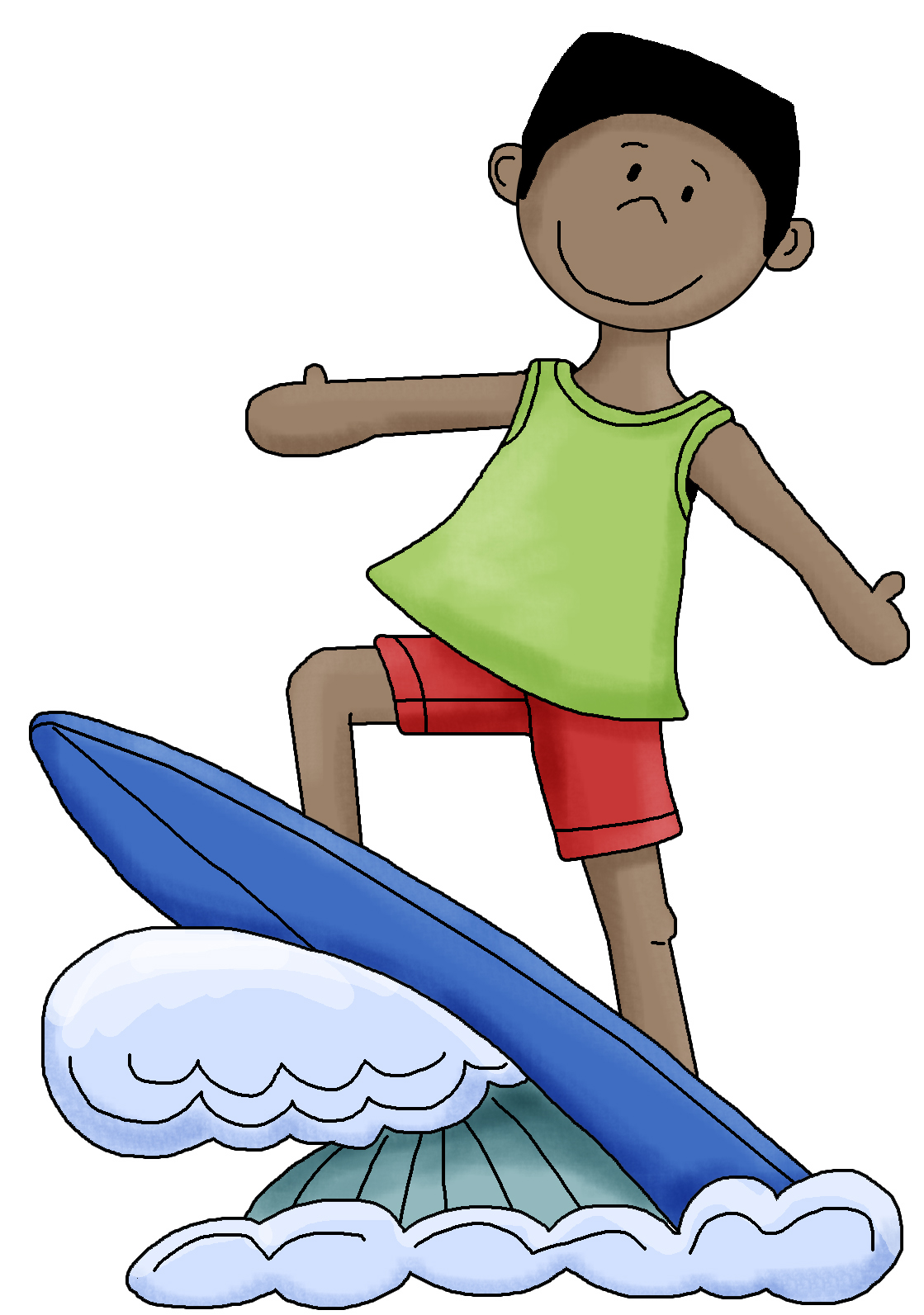 Surfer Boy And Girl Coloring Pages