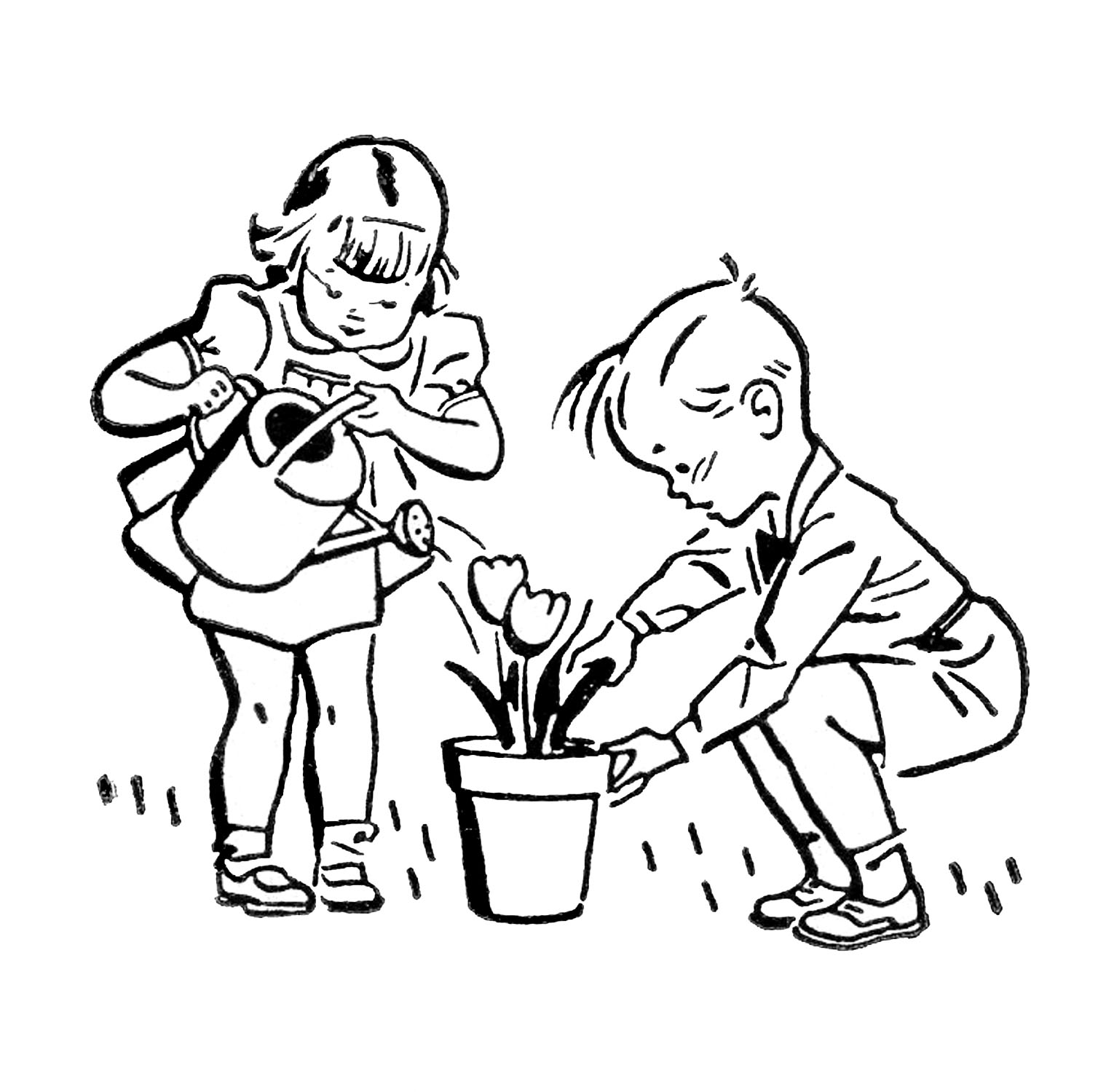 Retro Images   Cute Kids   Gardening   Fishing   Playing   The