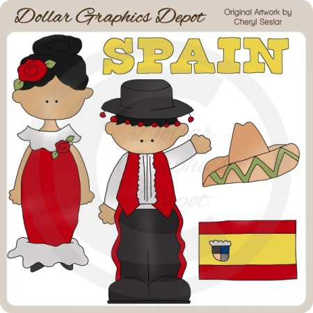 Spanish Kids   Clip Art    1 00   Dollar Graphics Depot Quality