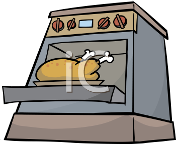 Thanksgiving Turkey Roasting In The Oven Clip Art Clipart Image Jpg