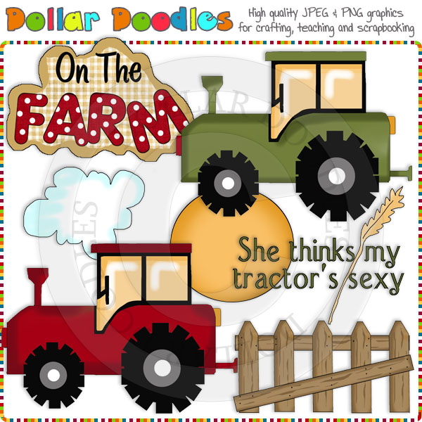 The Farmers Tractor Clip Art Download     1 00   Dollar