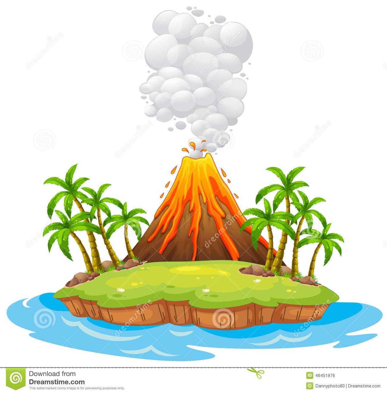 Clip Art Clipart Volcano clip art volcano erupting clipart kid island stock vector image 46451976