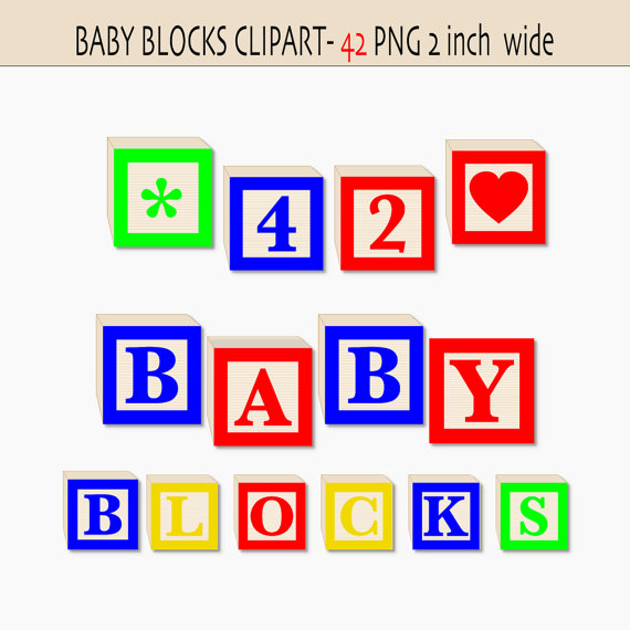 Baby Blocks Alphabet And Numbers Clip Art In Primary Colors 42