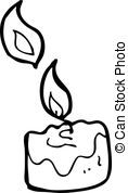 Candle Vector Clip Art Illustrations  88 Scented Candle Clipart