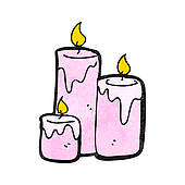 Cartoon Scented Candles Cartoon Pink Candle Candle Sketch Seamless