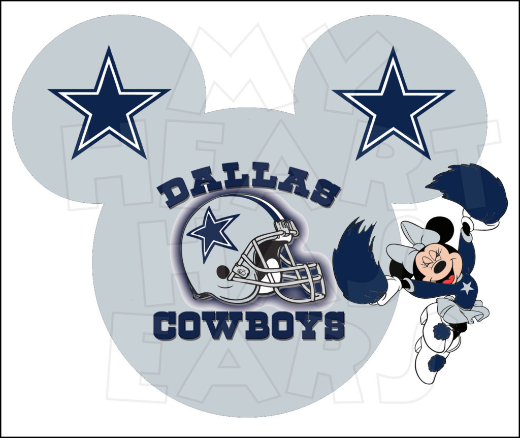 Dallas Cowboys With Minnie Mouse Instant Download Digital Clip Art