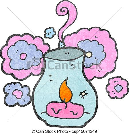Eps Vector Of Retro Cartoon Scented Candle Csp15074349   Search Clip