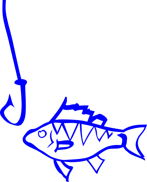 Fish And Hook Clip Art