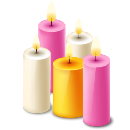 Five Scented Candles Icon Png Clipart Image   Iconbug Com