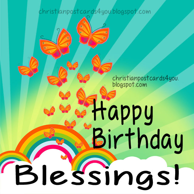 Happy Birthday  Blessings  God Bless You  Birthday Christian Phrases