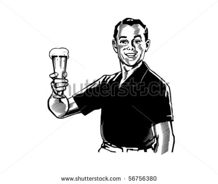 Man Drinking Beer Stock Photos Illustrations And Vector Art