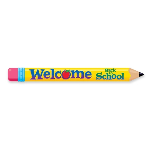 Multicolor Welcome Pencil Banner Welcome Back To School   10 Ft Width