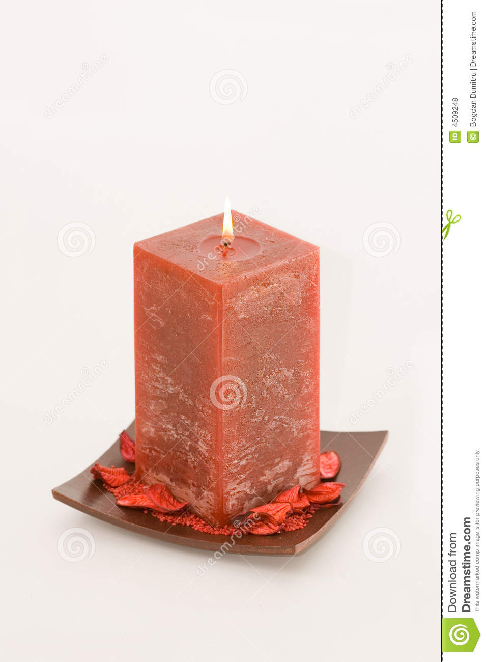 Red Scented Candle Royalty Free Stock Photos   Image  4509248