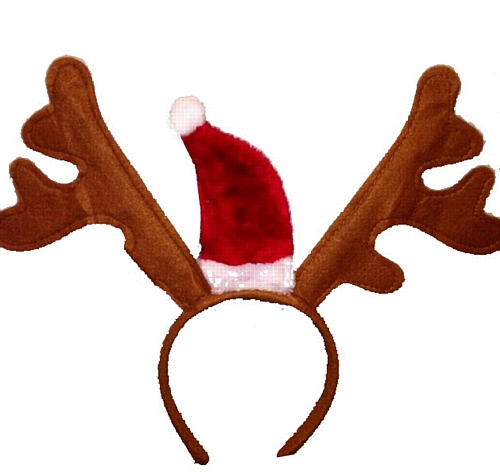 Reindeer antler headband template