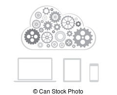 Remote Server Illustrations And Clipart