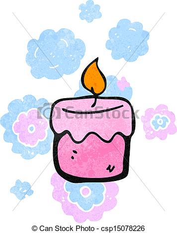 Scented Candles Clipart Retro Cartoon Scented Candles