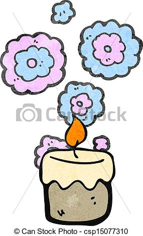 Scented Candles Clipart Retro Cartoon Scented Candles   Csp15077310