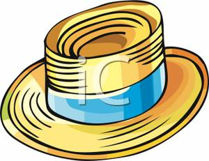 Straw Hat Clipart Mans Straw Hat Royalty Free Clipart Picture 090529