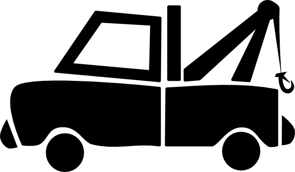 Clip Art Tow Truck Clip Art tow truck towing clipart kid black clip art at clker com vector online royalty