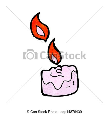 Vector   Cartoon Scented Candle   Stock Illustration Royalty Free