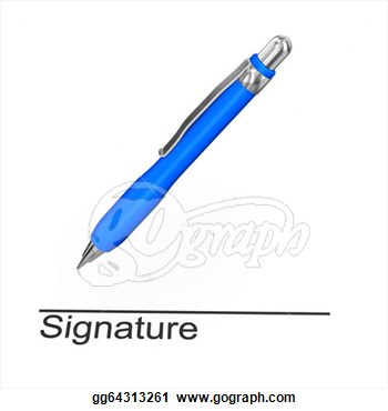 With Text Signature  White Background  Clipart Drawing Gg64313261