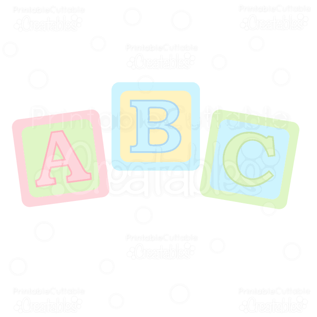 Abc Baby Blocks Free Svg Cuts   Clipart