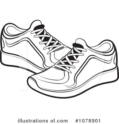 Shoe Outline Clipart - Clipart Kid