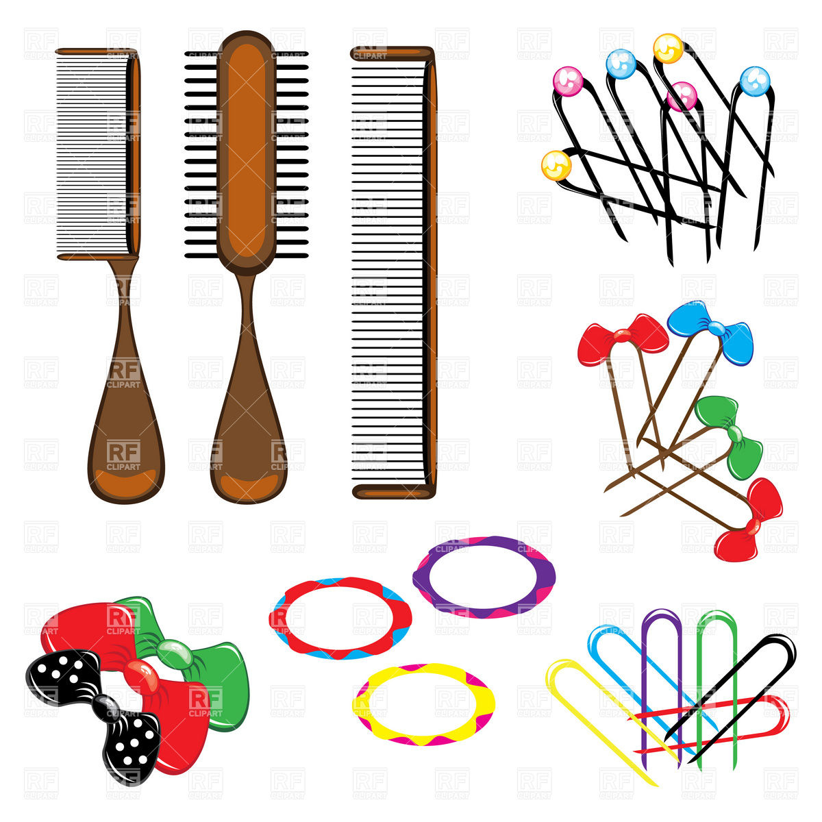 And Hair Accessories 8531 Download Royalty Free Vector Clipart  Eps