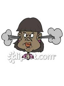Angry Black Woman   Royalty Free Clipart Picture