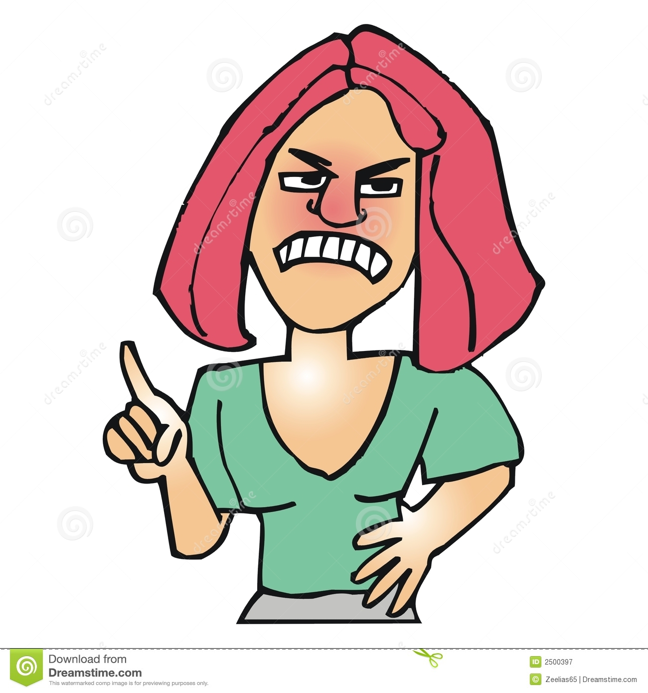 Angry Woman Royalty Free Stock Photography   Image  2500397
