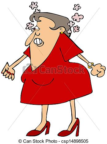 Angry Woman With    Csp14898505   Search Clipart Illustration