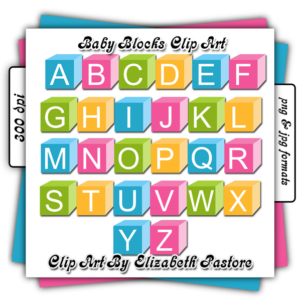 Baby Blocks Clipartbaby Blocks Clip Art By Elizabeth Pastore Greipwdg