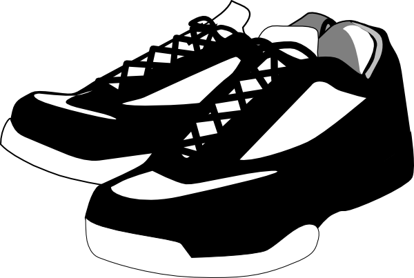 Black And White Shoes Tennis Clip Art At Clker Com   Vector Clip Art